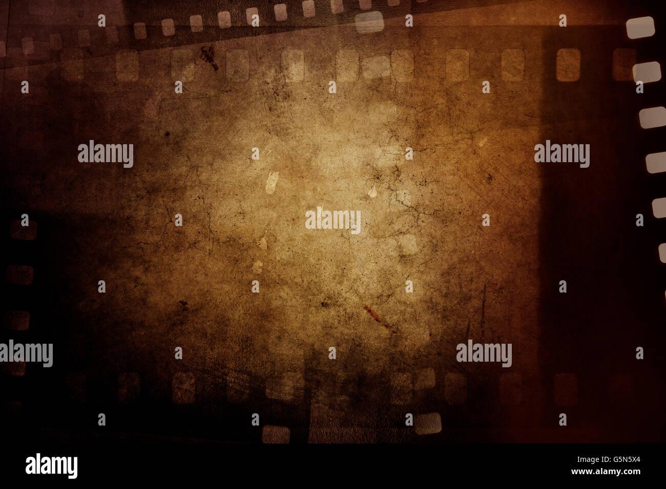Film negative frames on grunge background Stock Photo