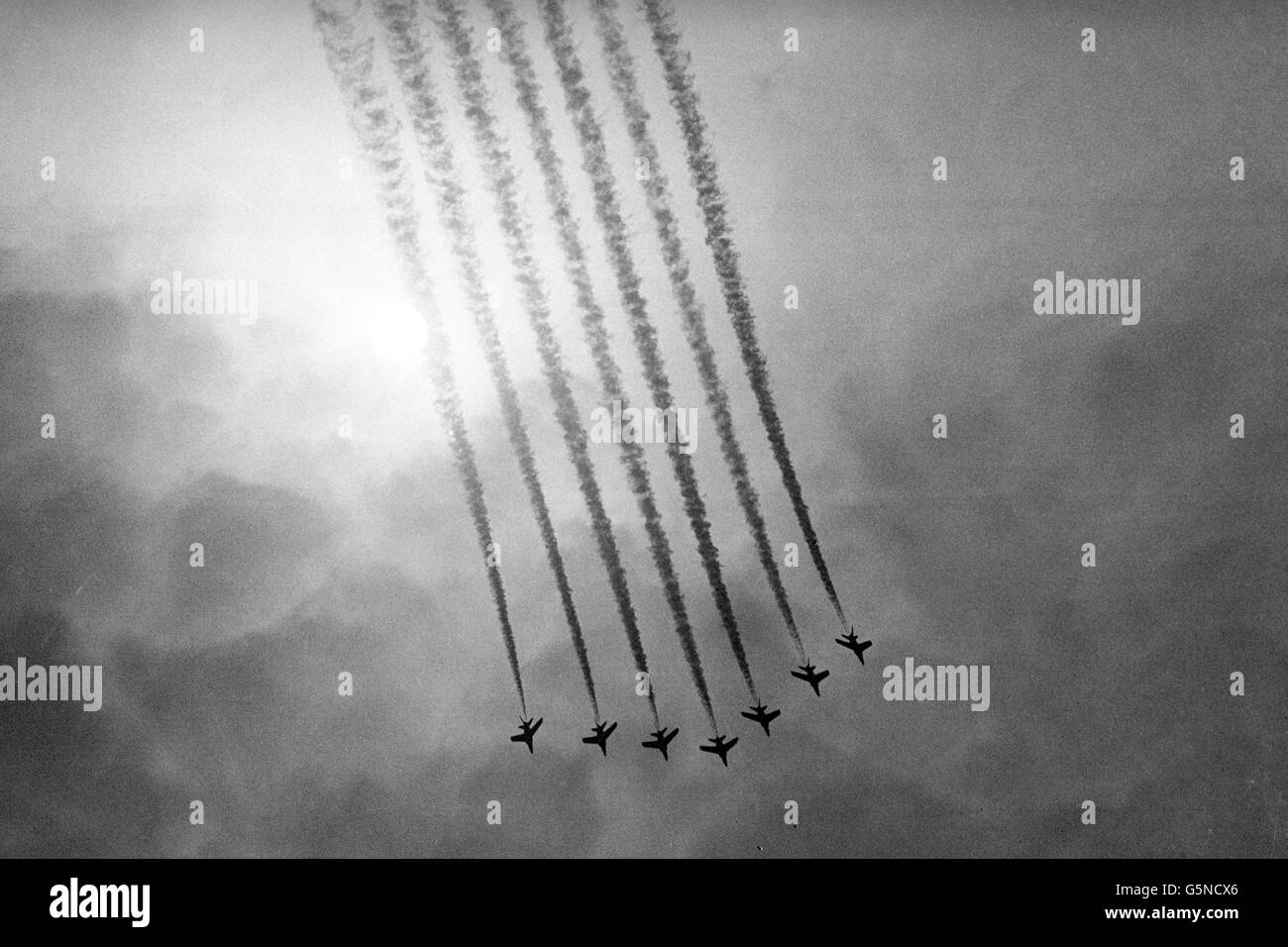 Disasters and Accidents - Four Red Arrows Pilots Die - Stock Image