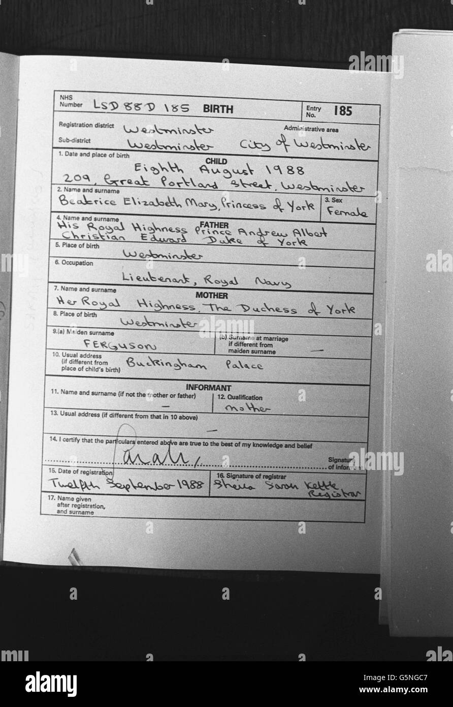 Birth Certificate Black And White Stock Photos Images Alamy