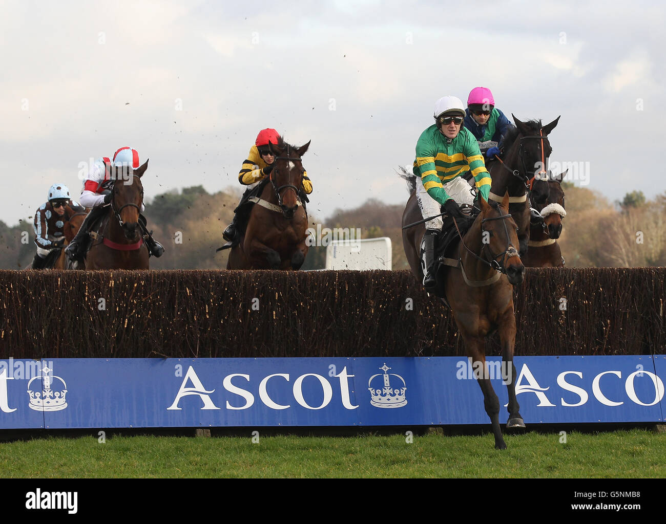Horse Racing - Christmas Meeting - Ascot Racecourse - Stock Image