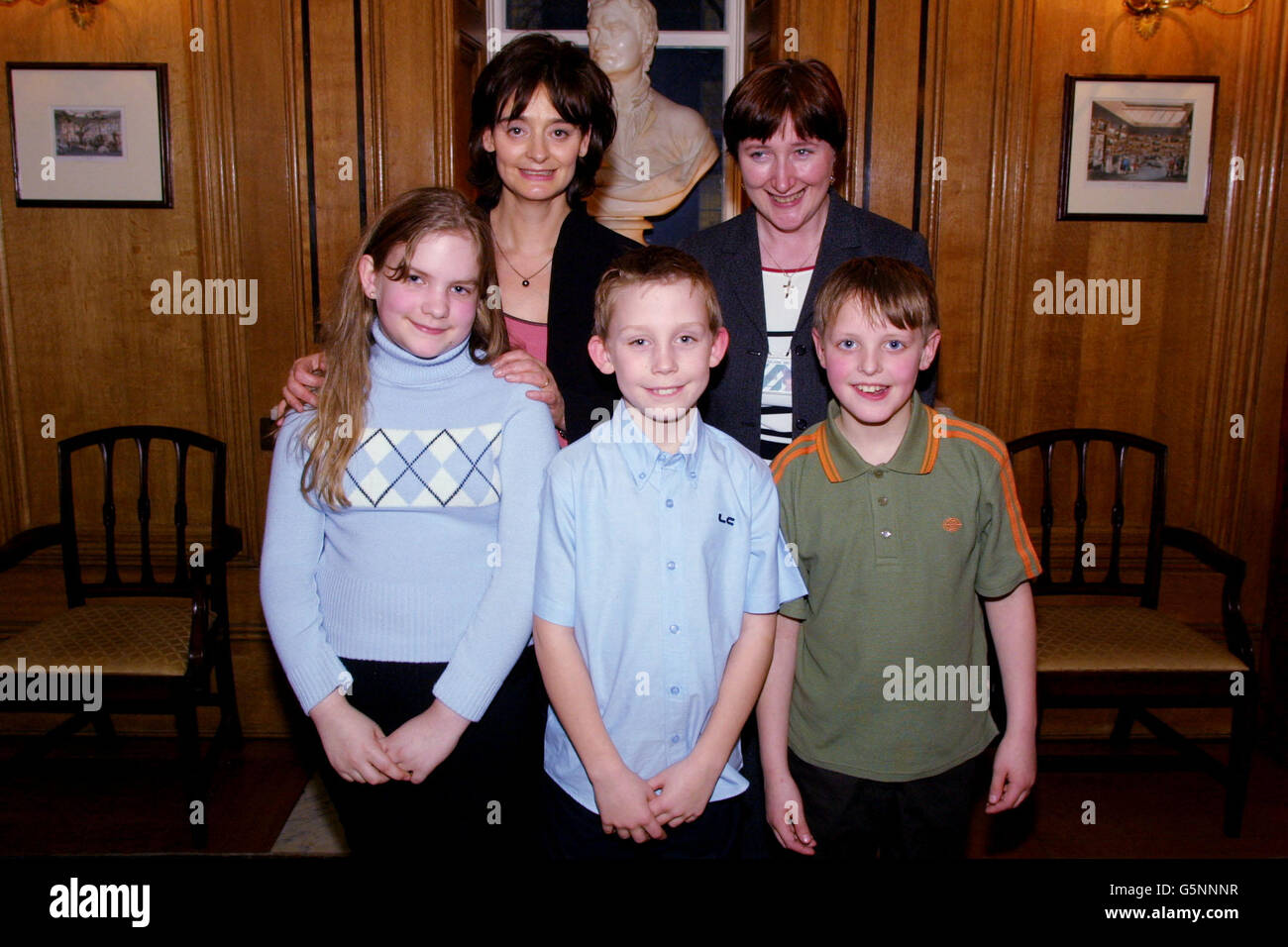 Downing Street Tea Party Cherie Blair - Stock Image