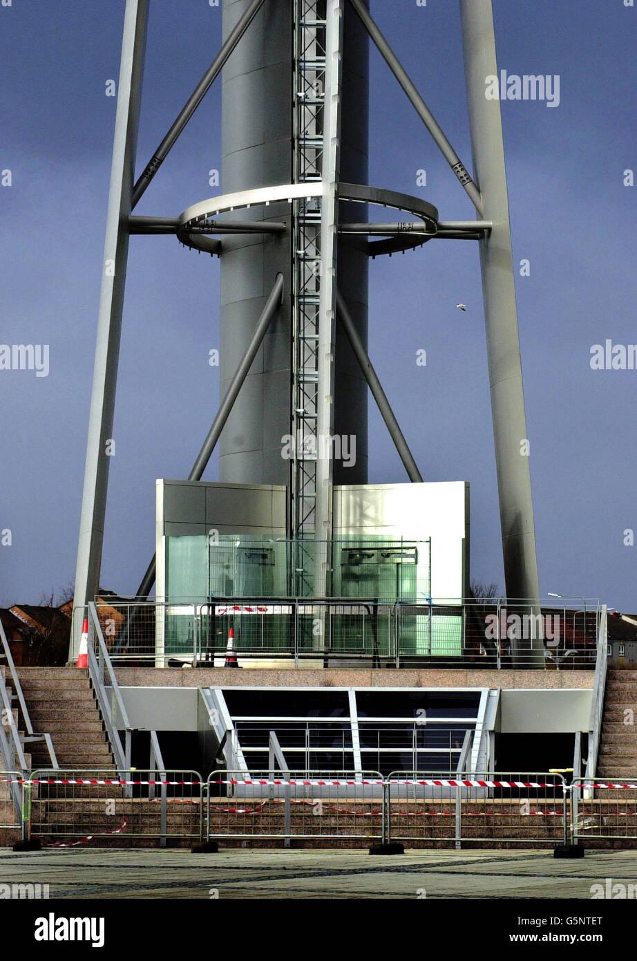 Glasgow Tower shut down - Stock Image