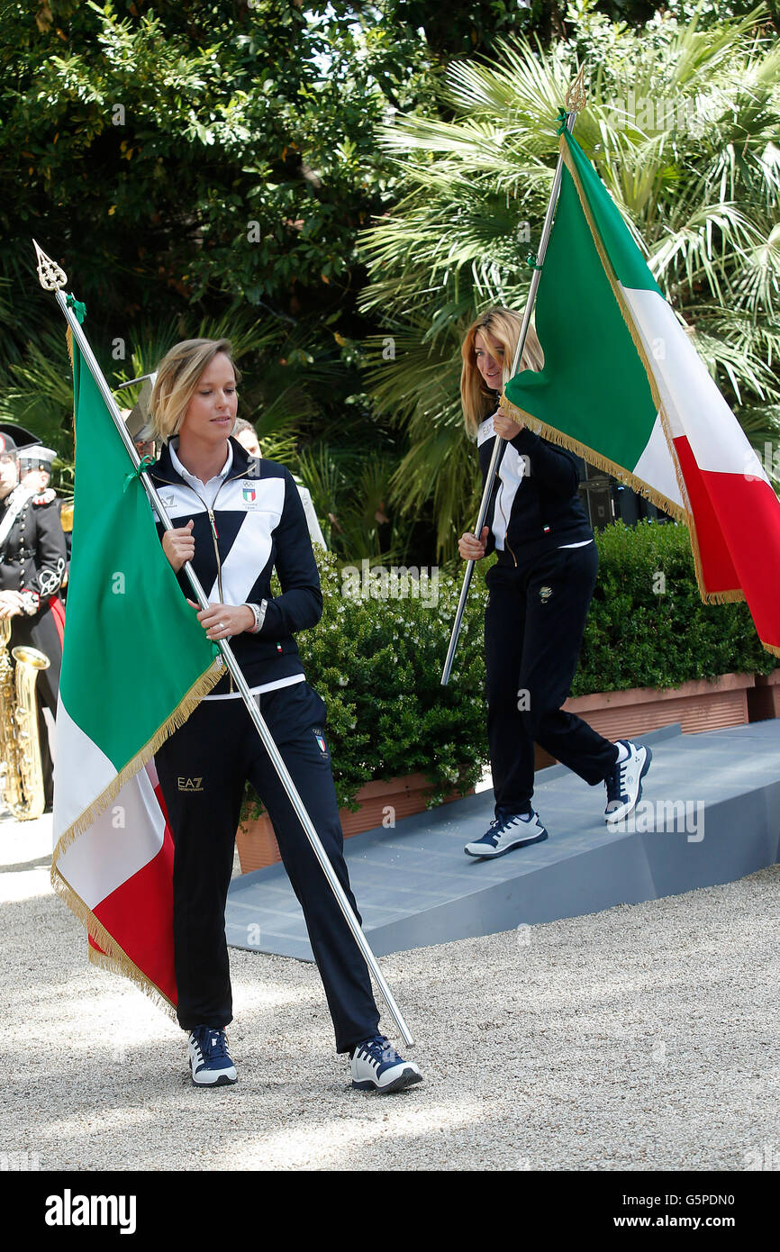 Federica Pellegrini Rome 22nd June 2016. Quirinal. The President meets the italian athletes of the Rio 2016 Olympic - Stock Image