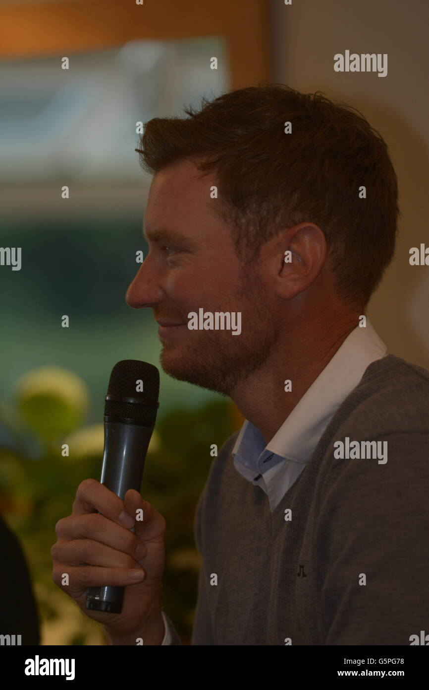 Bristol, UK. 22nd June, 2016. An evening with Chris Wood PGA golf player at his Home Club in Long Ashton in Bristol. - Stock Image