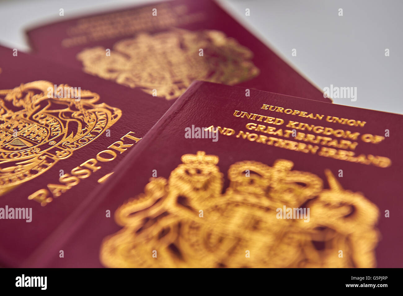 A British European Union passport on June 23, 2016 in Tokyo, Japan. Voters in Great Britain and Northern Ireland - Stock Image