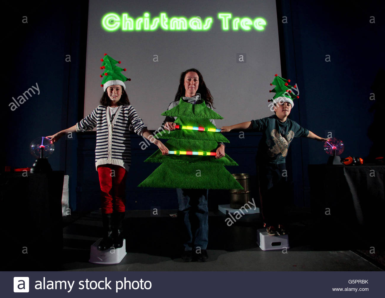 Festive Physics Christmas Show Stock Photo