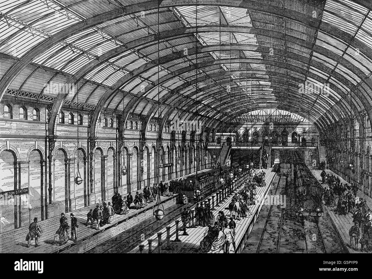 Transport - London Underground - Notting Hill Gate Tube Station - Stock Image