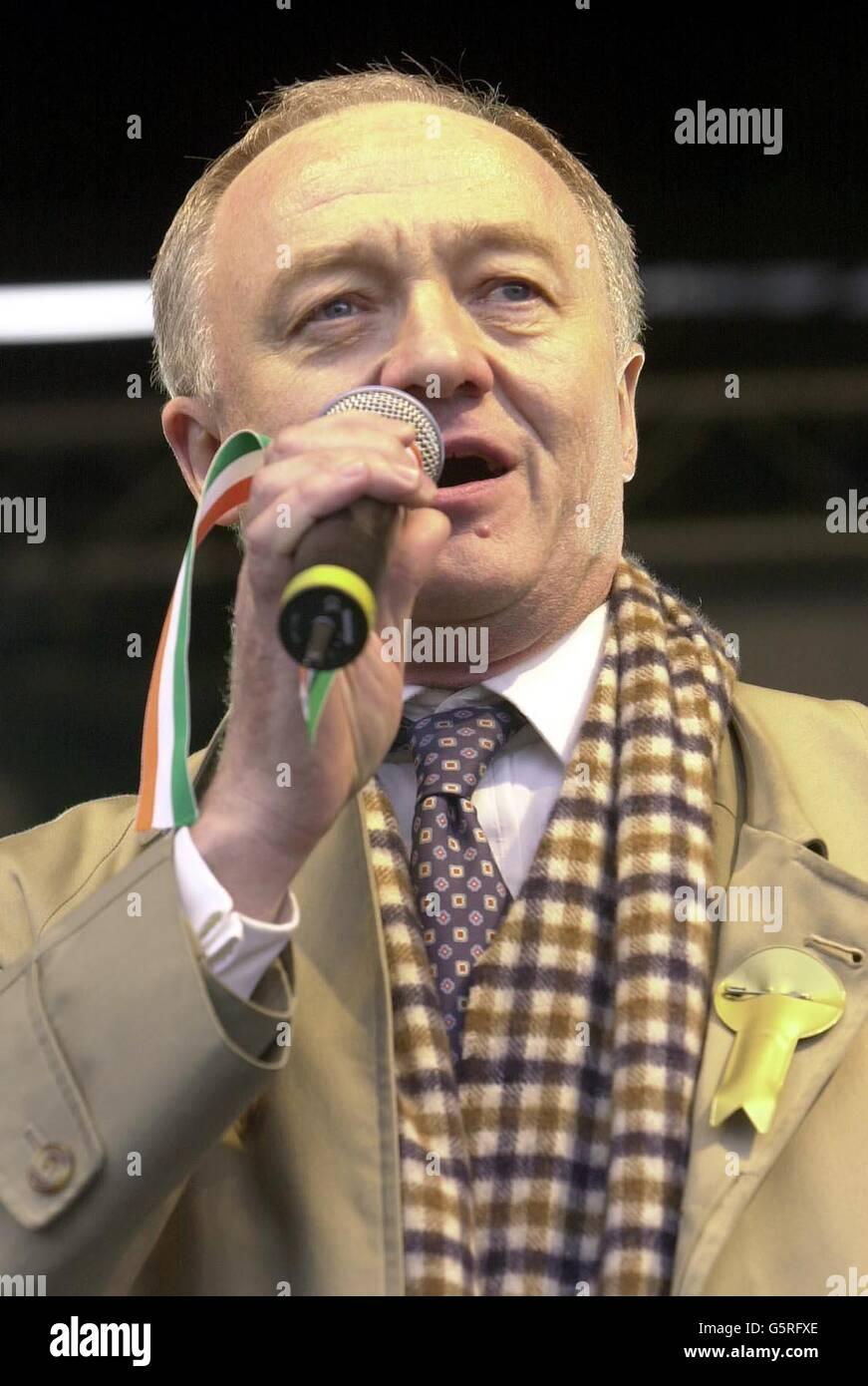Ken Livingstone - St Patricks Day - Stock Image