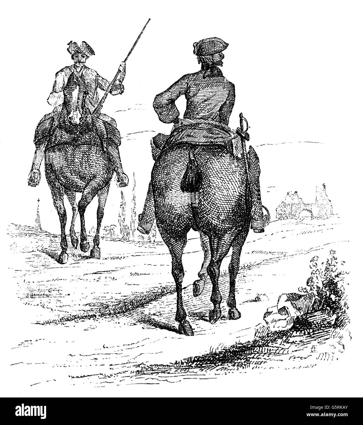 military, cavalry, French troopers, circa 1700, Additional-Rights-Clearences-NA - Stock Image