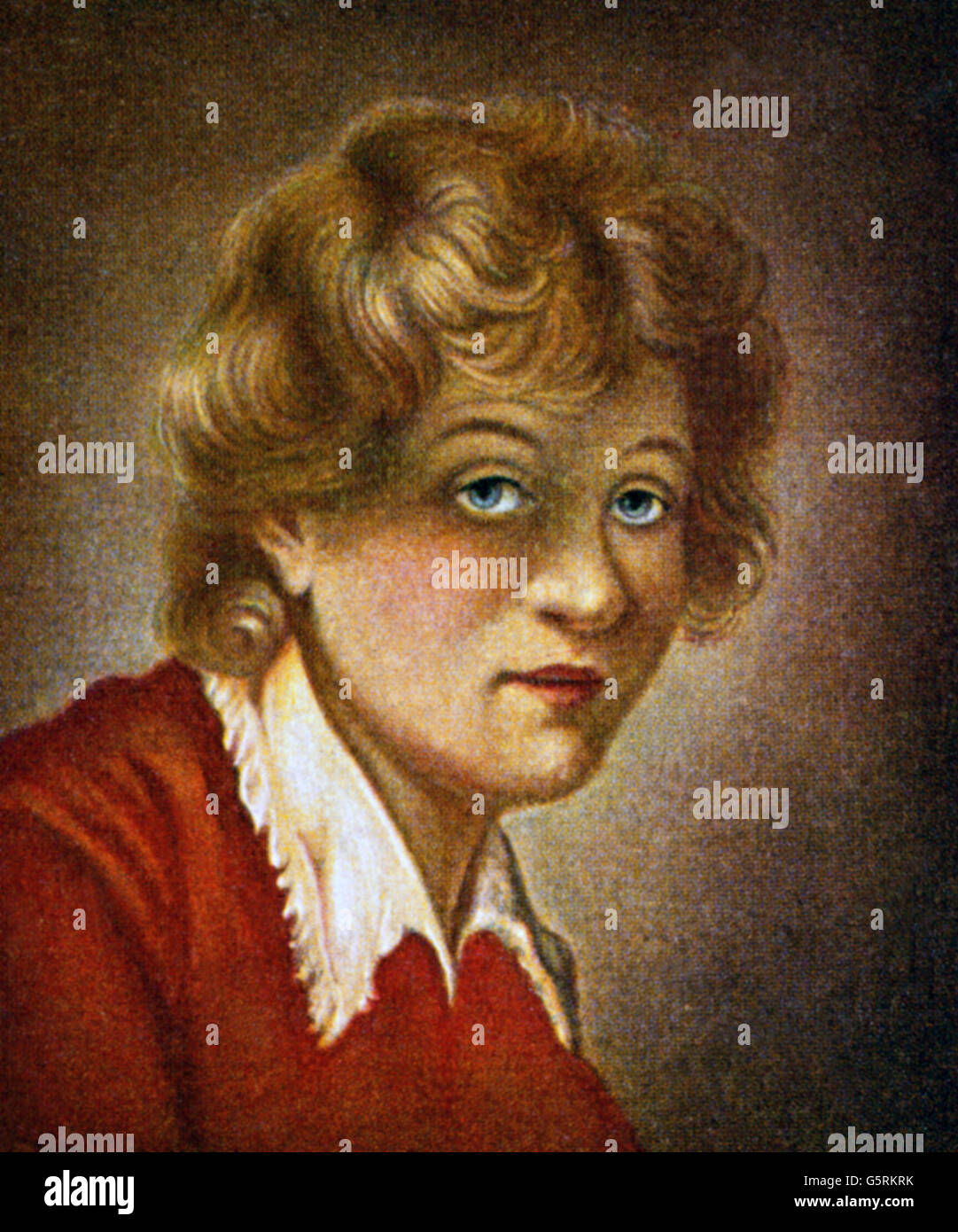Rembrandt, Harmensz van Rijn, 15.7.1606 - 4.10.1669, Dutch painter, portrait, miniature, after Wilhelmine von Thil, - Stock Image
