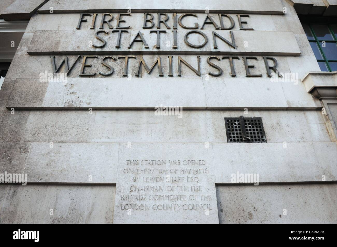 Fire Stations closures - Stock Image