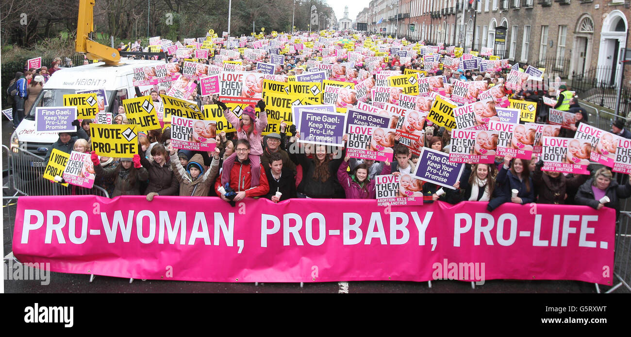 Pro-Life Campaign demonstration - Stock Image