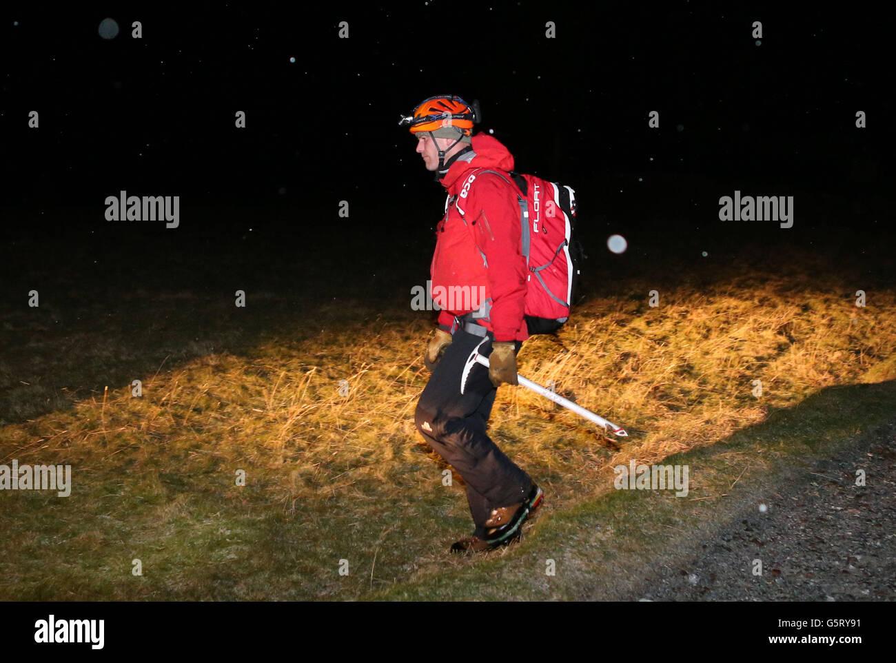Glencoe avalanche deaths Stock Photo