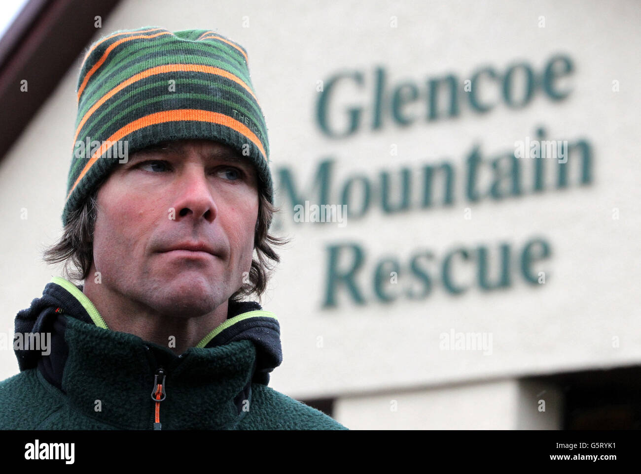 Glencoe avalanche deaths Stock Photo