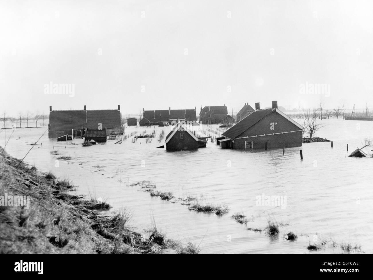 Environment - Flooding - Rilland-Bath - Zealand - Holland - Stock Image