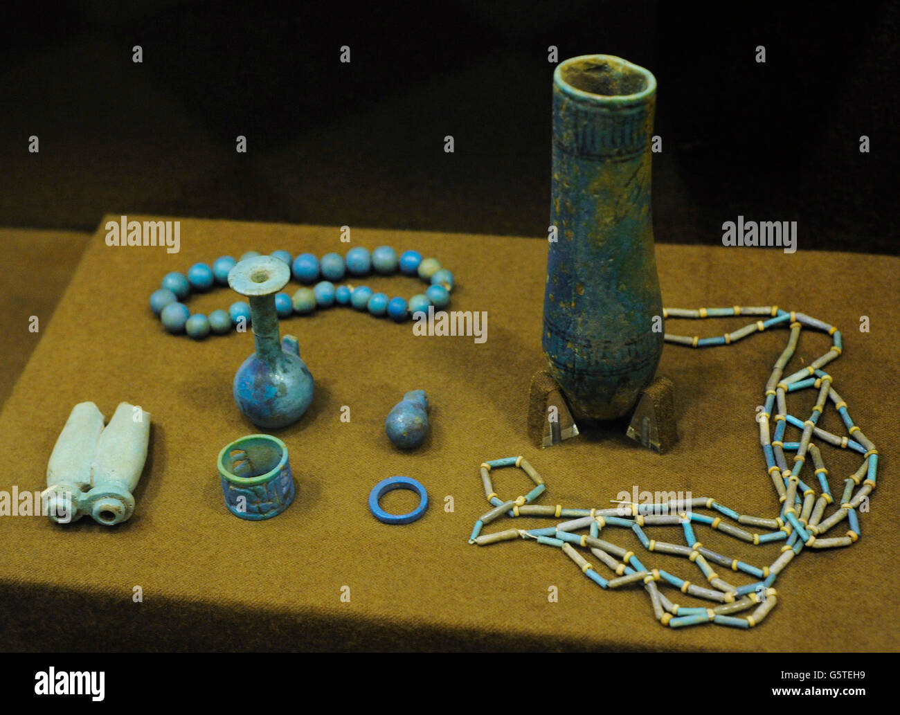 Trade in the Mediterranean area. Different objects exported from Egypt to neighboring countries. In this case Crete. - Stock Image