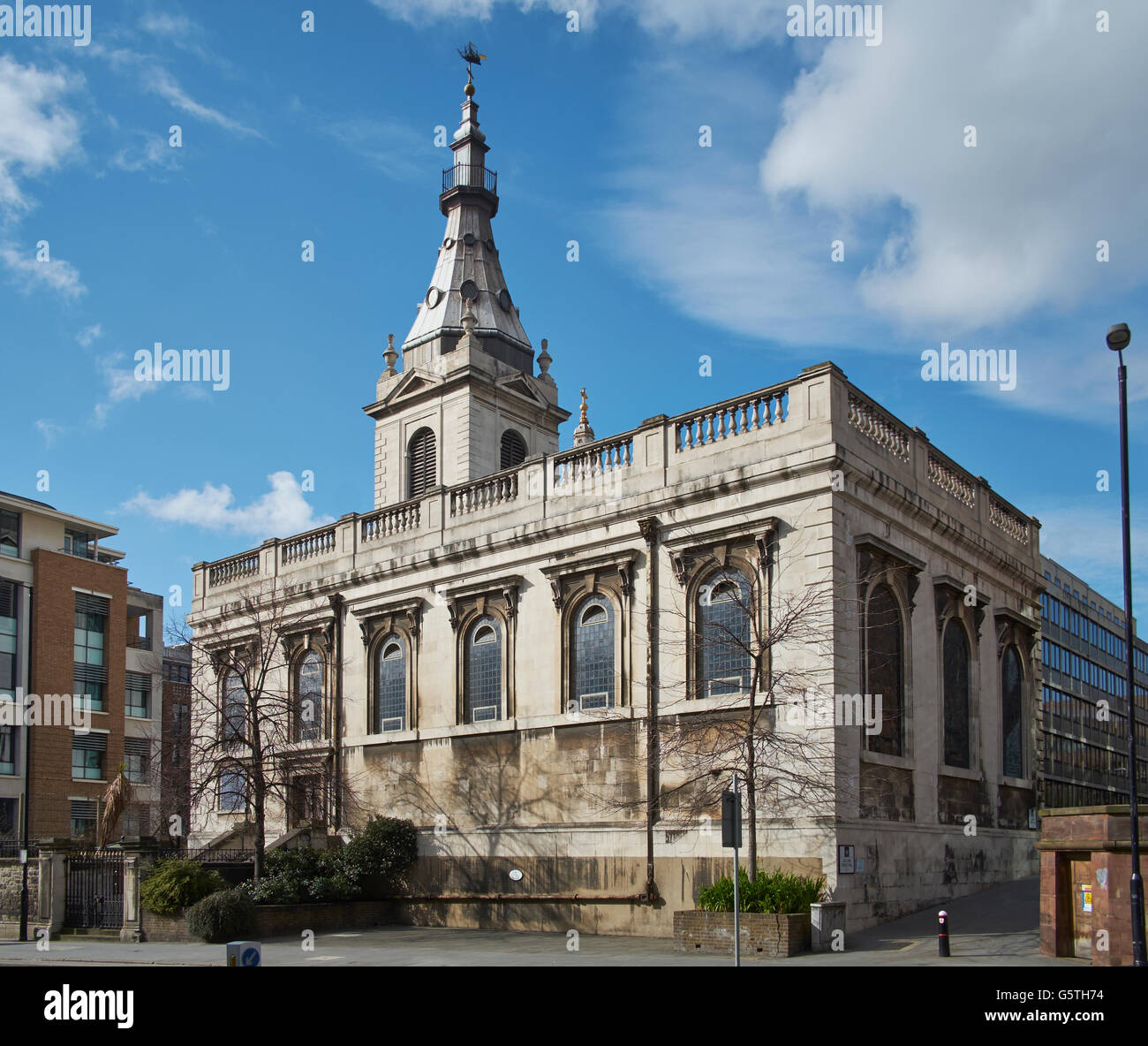 St Nicholas Cole Abbey, church in the City of London; exterior - Stock Image
