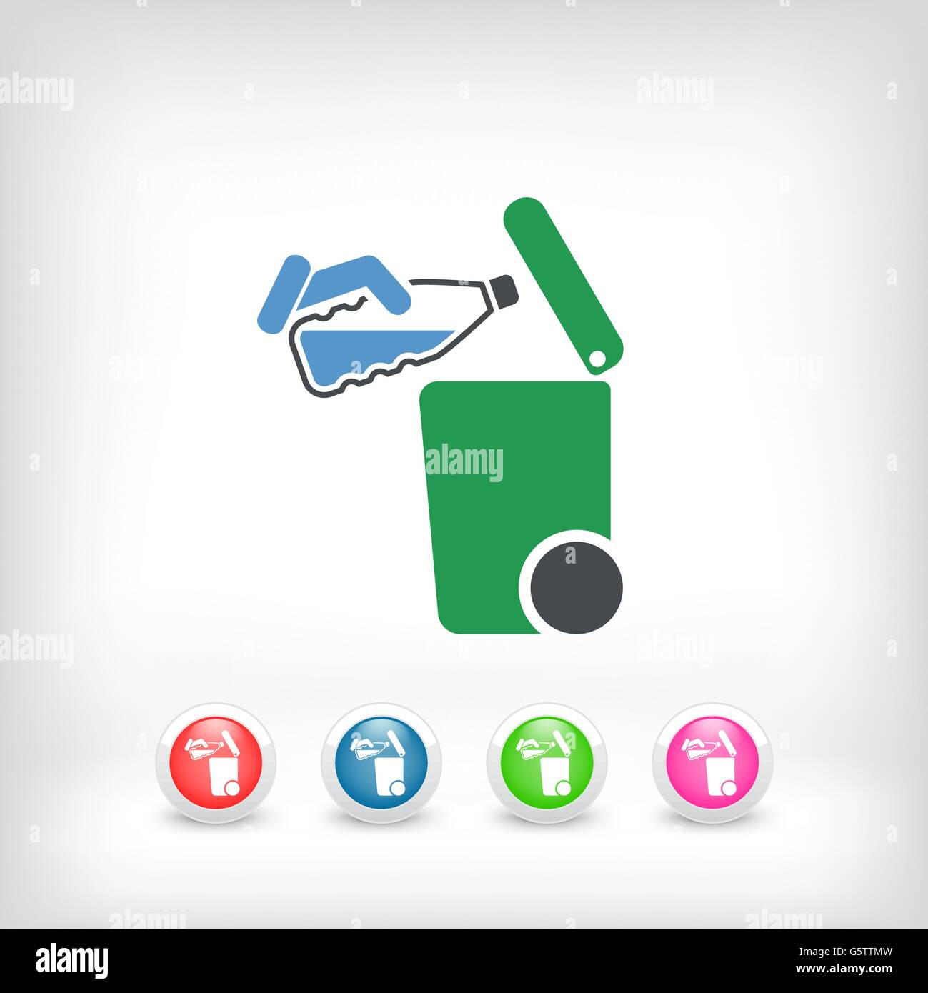 Separate waste collection icon - Stock Image