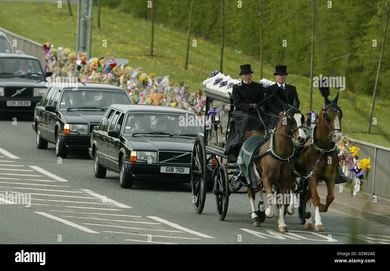 Leonie Rose Shaw funeral - Stock Image