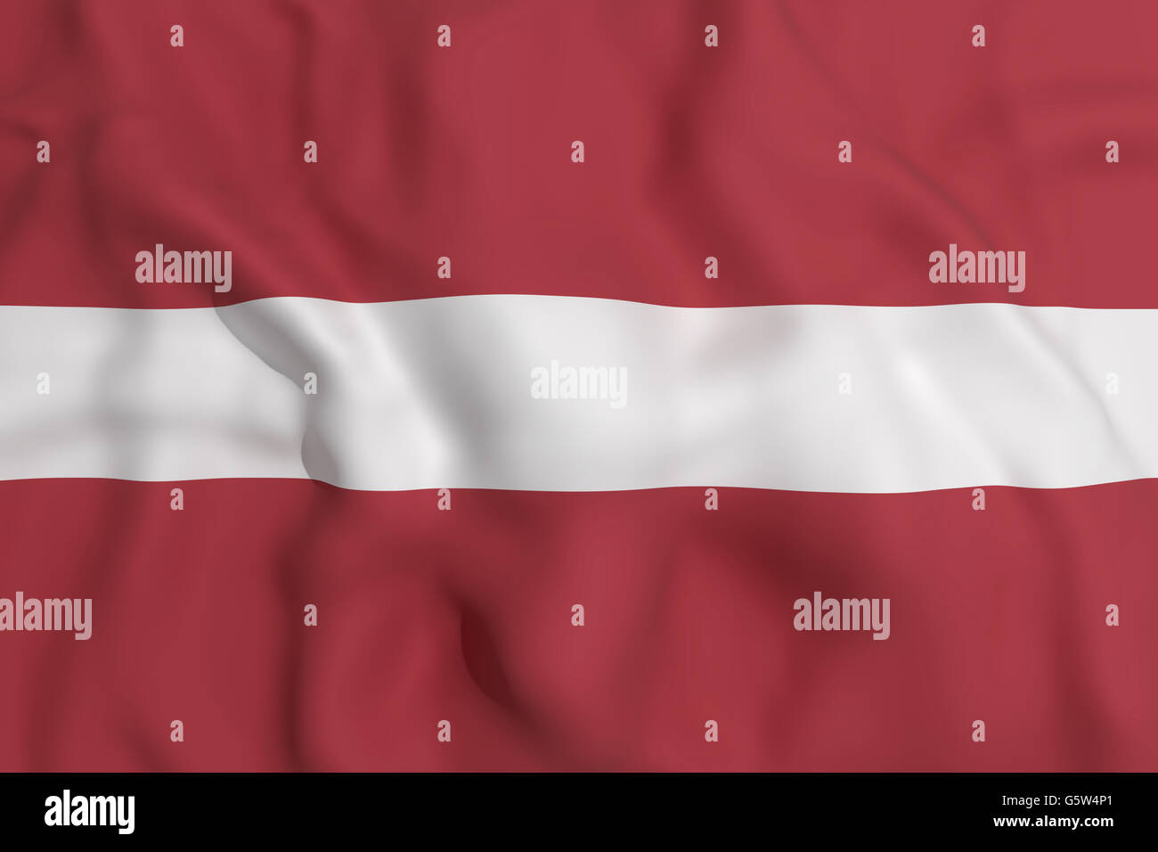 3d rendering of a Letonia flag waving - Stock Image
