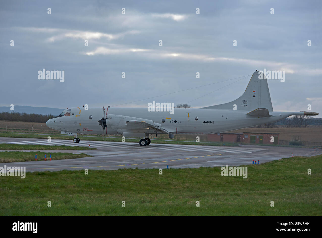 Lockheed P-3C Orion from MFG-3 Nordholz Serial Registration (60 + 06) SCO 10,541. Stock Photo