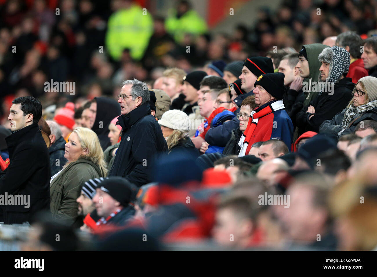 Soccer - Barclays Premier League - Manchester United v Everton - Old Trafford - Stock Image