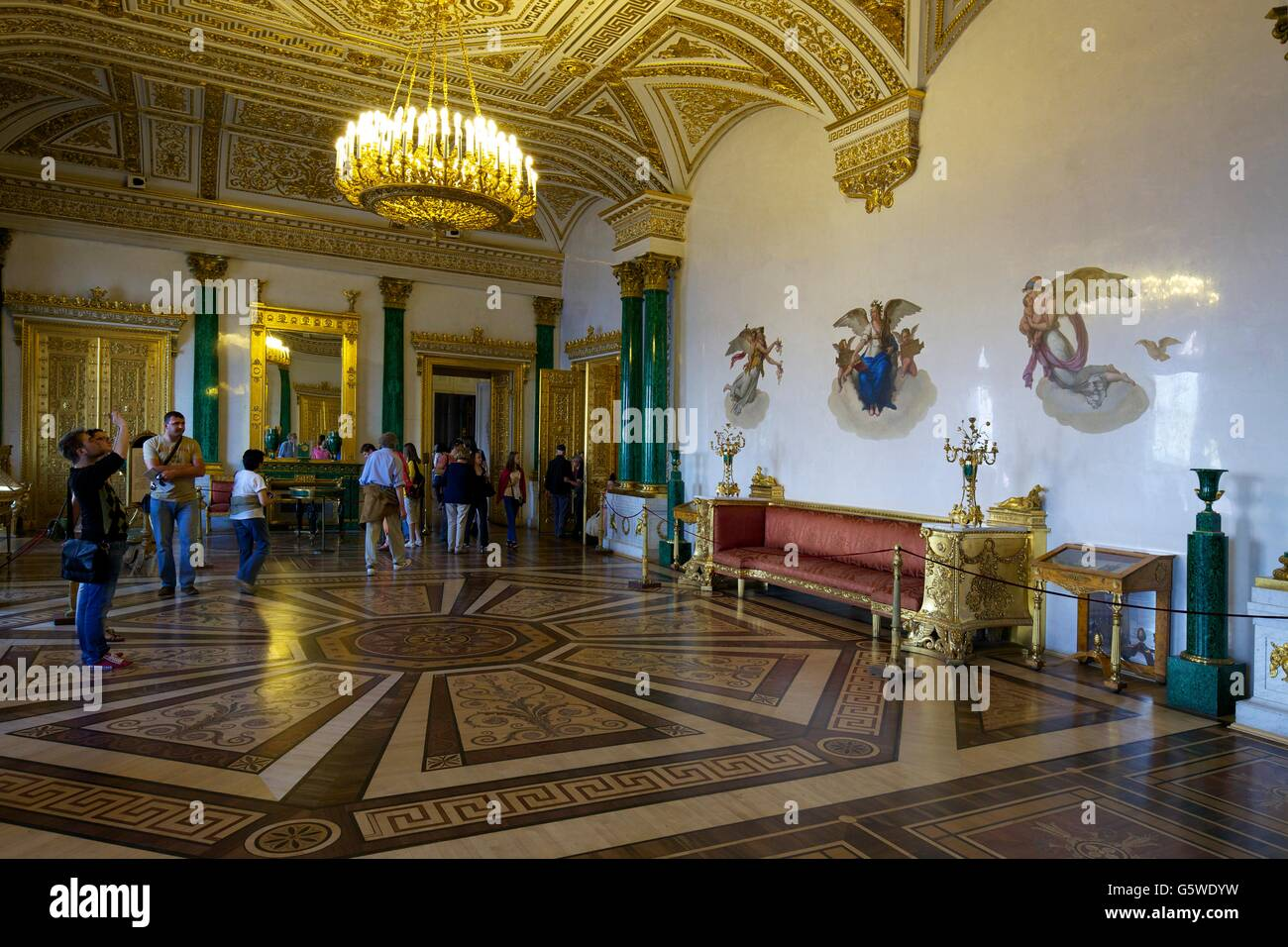 Jade Room, Winter Palace, Hermitage State Museum, Saint Petersburg, Russia - Stock Image