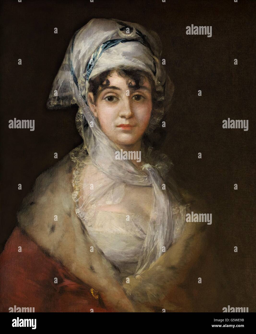Portrait of the actress Antonia Zarate, by Francisco Goya, Circa 1810-1811. Hermitage State Museum, Saint Petersburg, - Stock Image