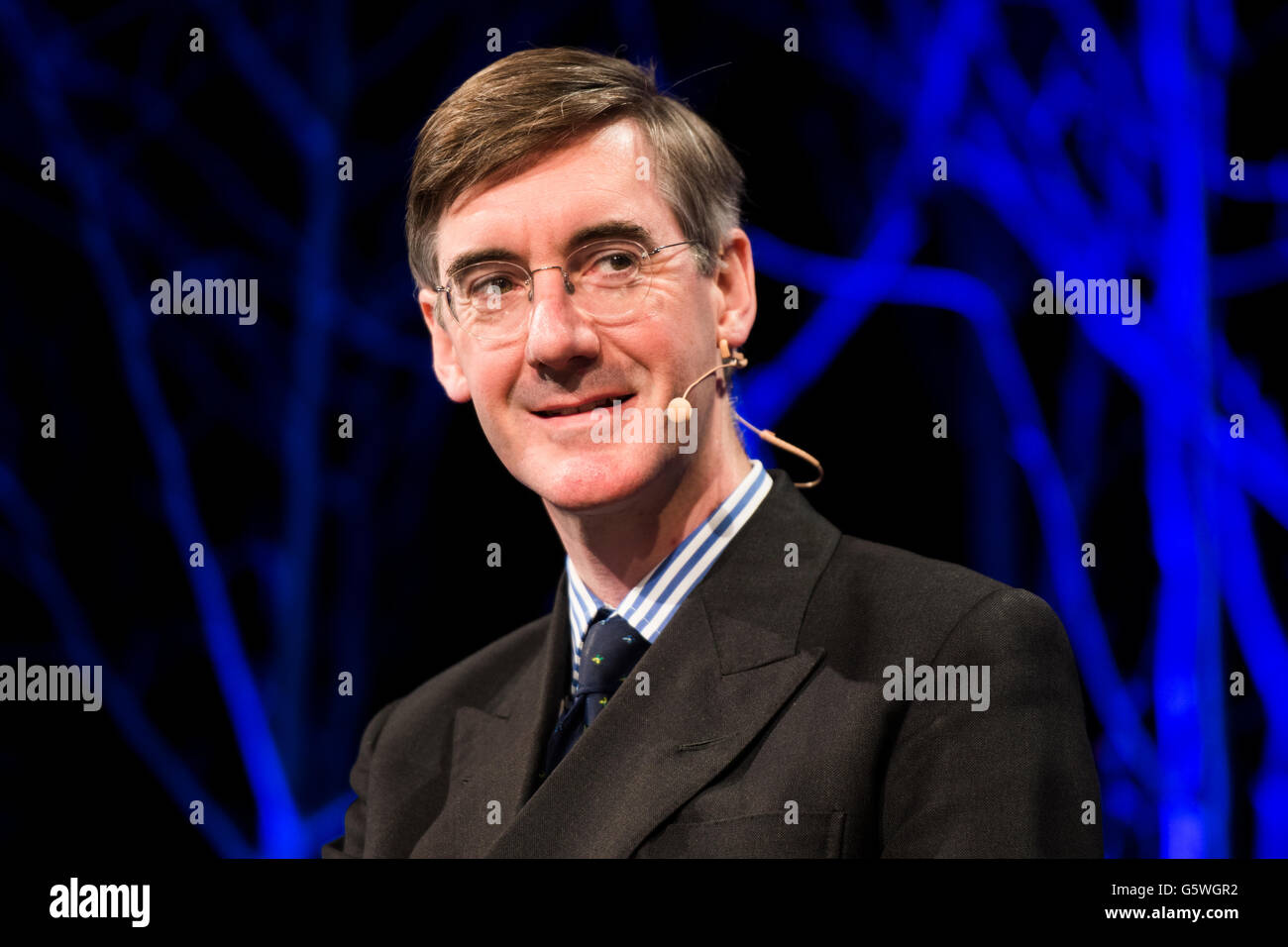 Jacob Rees-Mogg,  British Eurosceptic  pro-Brexit Conservative Party politician, MP for North East Somerset since - Stock Image