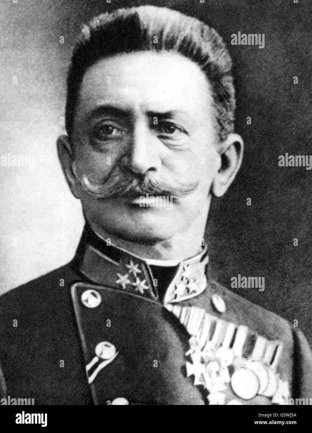 Conrad von Hoetzendorf, Franz, 11.11.1852 - 25.8.1925, Austrian general, chief of staff of the Austro-Hungarian Stock Photo