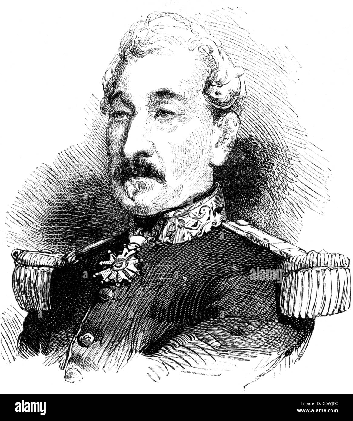 Cousin-Montauban, Charles, 24.6.1796 - 8.1.1878, French general, commander of the French expeditionary force in - Stock Image