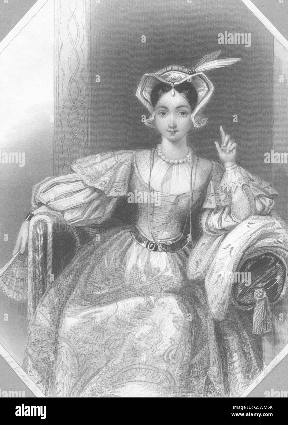 ROYALTY: Princess Katherine, antique print c1840 - Stock Image