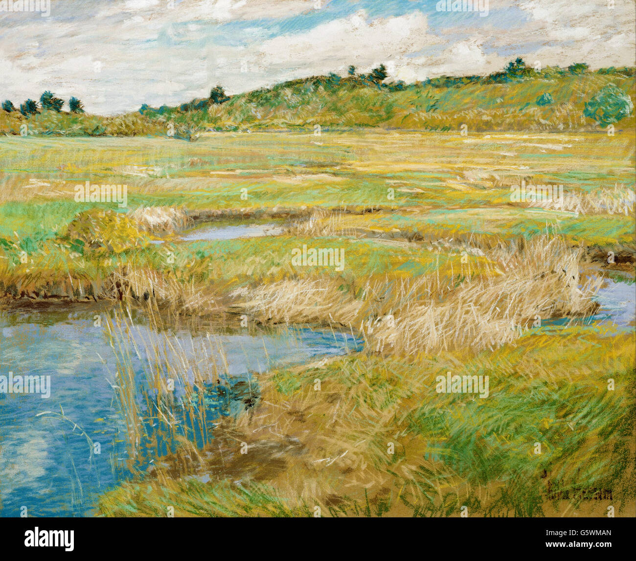 Childe Hassam - The Concord Meadow - - Stock Image