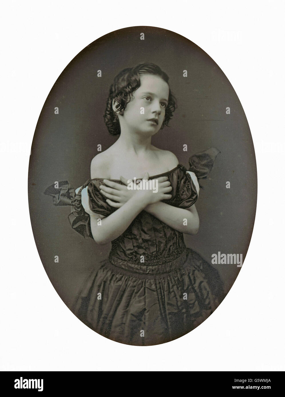 Jeremiah Gurney - Young Girl with Arms Crossed - - Stock Image