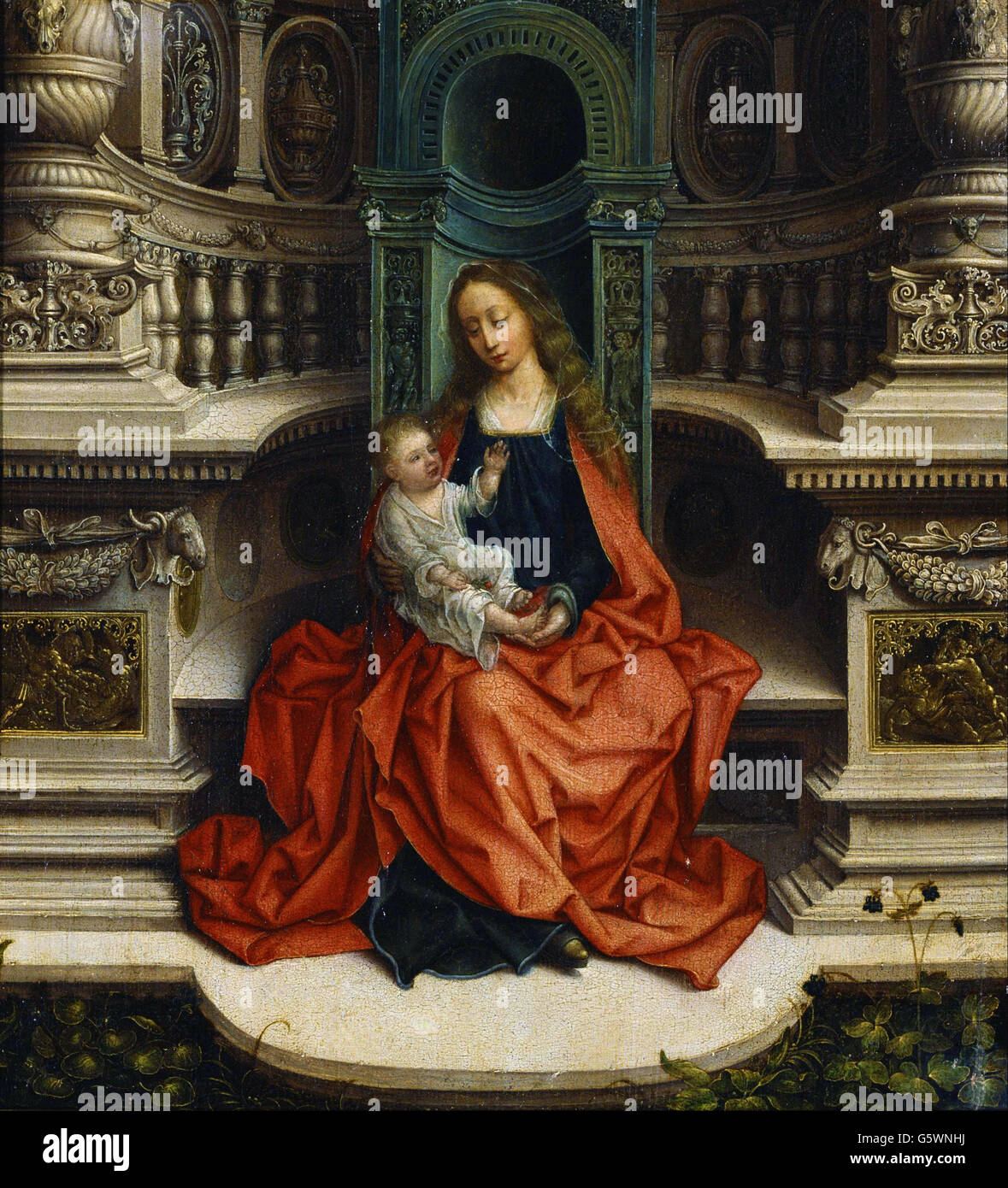 Adrian Isenbrandt - The Madonna and Child Enthroned - - Stock Image