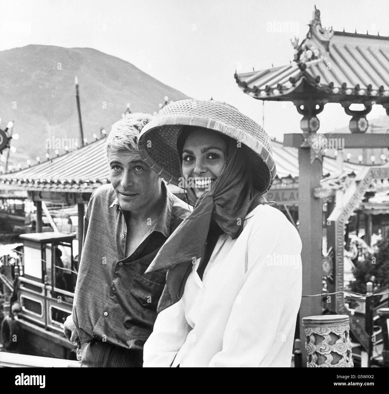 Entertainment - Film - Lord Jim - Dahlia Lavi with Peter O'Toole - Hong Kong - Stock Image