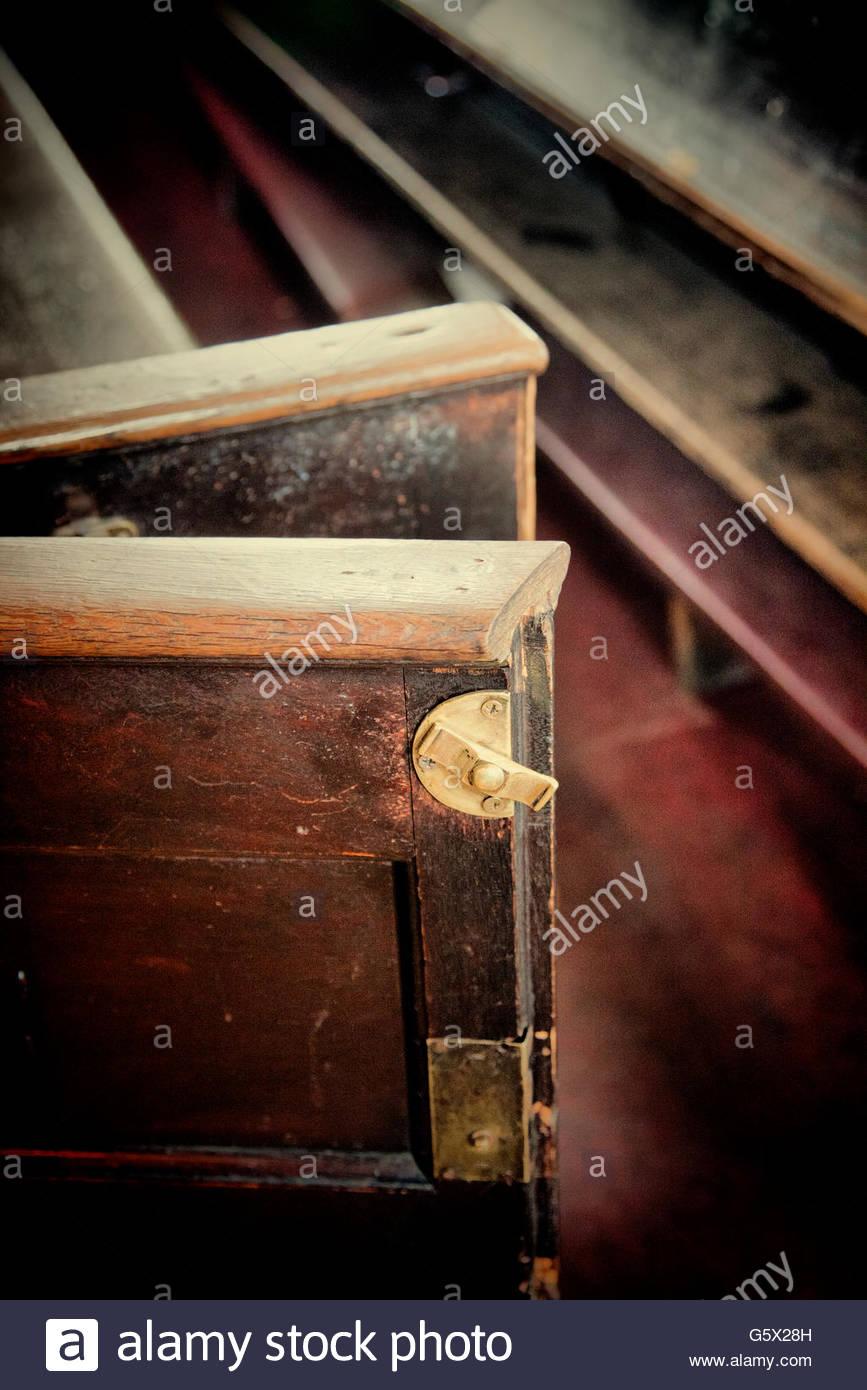 Church Pew Gate - Stock Image