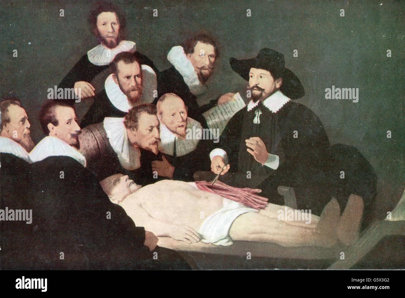 The Anatomy Lesson Of Dr Nicolaes Tulp Stock Photos The Anatomy