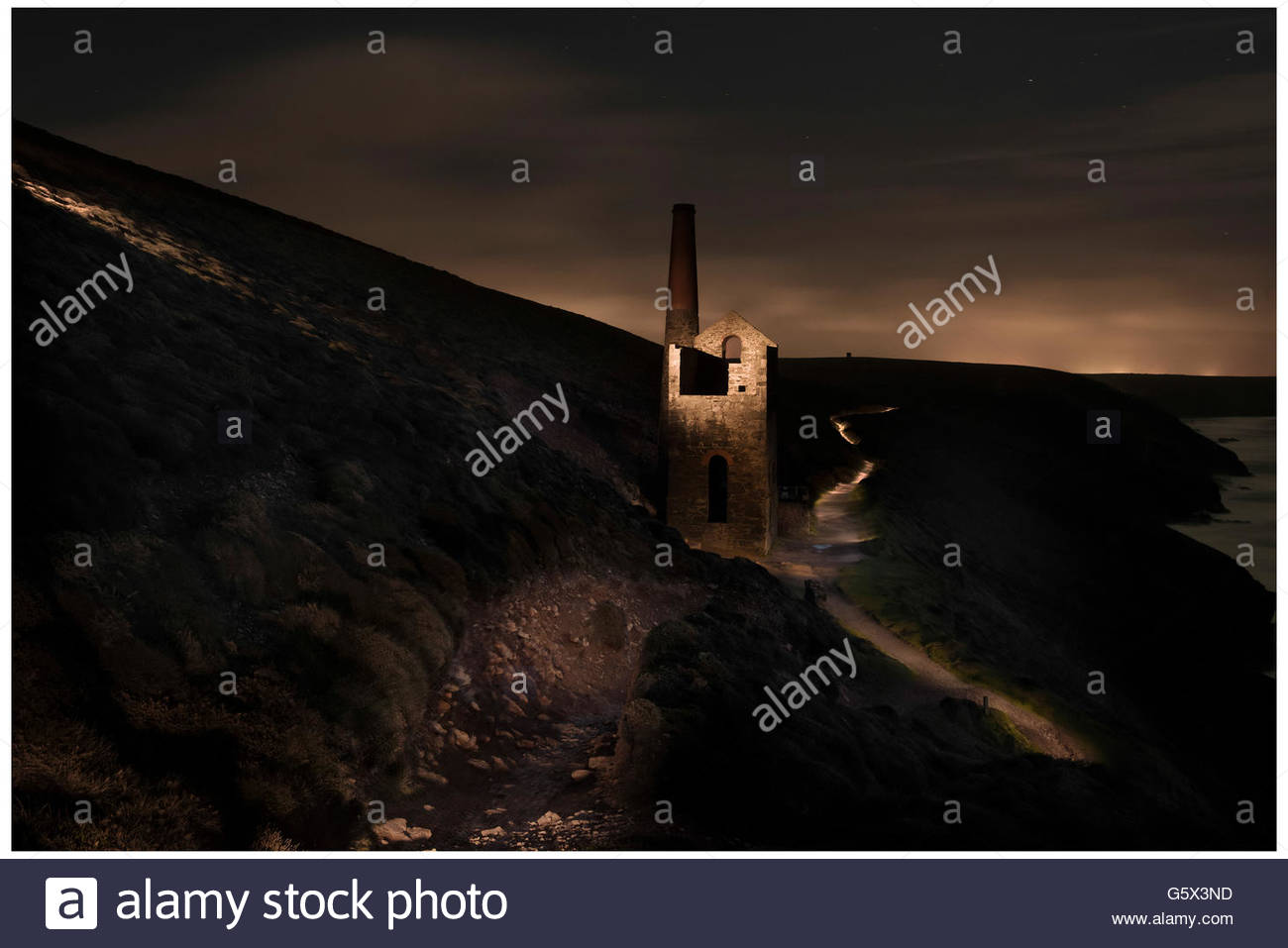 Industrial exteriors, reminding us of a more prosperous time in manufacturing - Stock Image