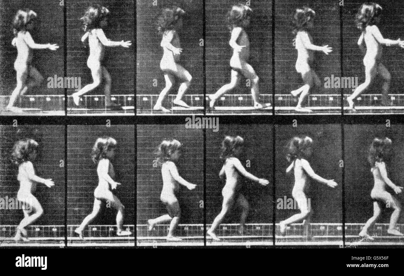 Muybridge, Eardweard, 9.4.1830 - 8.5.1904, British photographer, works, series of photos for medical purposes, circa, - Stock Image