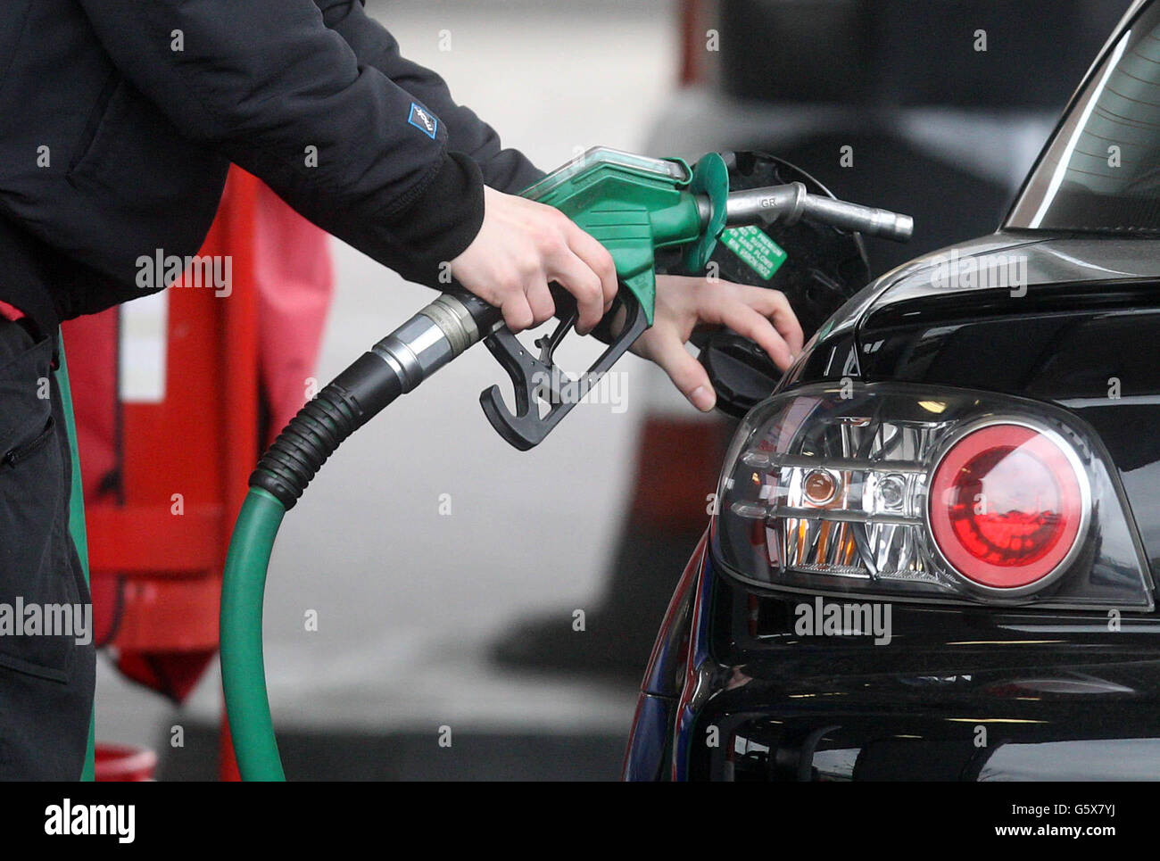 Petrol costs Stock Photo