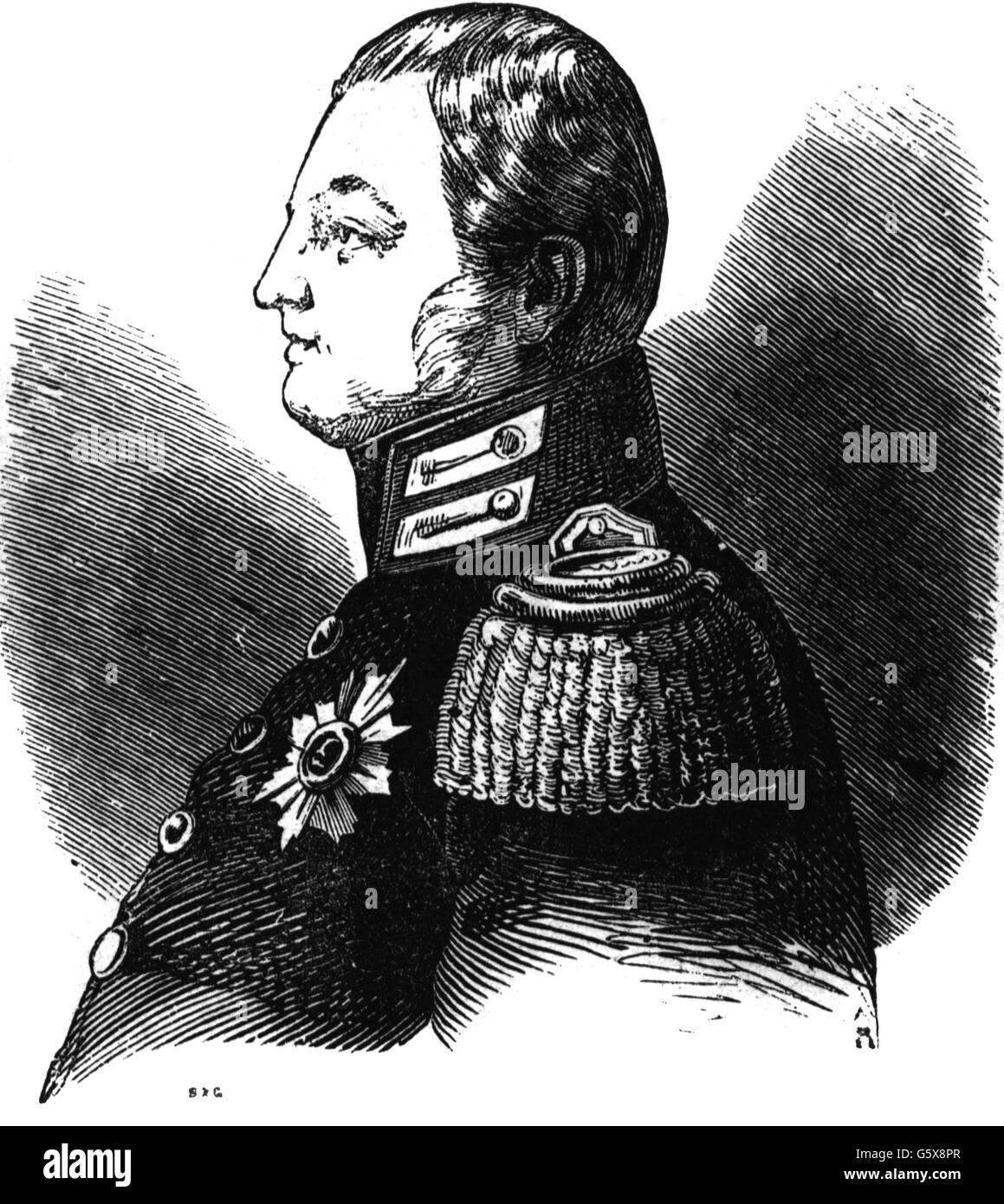 Louis II, Grand Duke of Hesse and by Rhine, 19th century - Stock Image