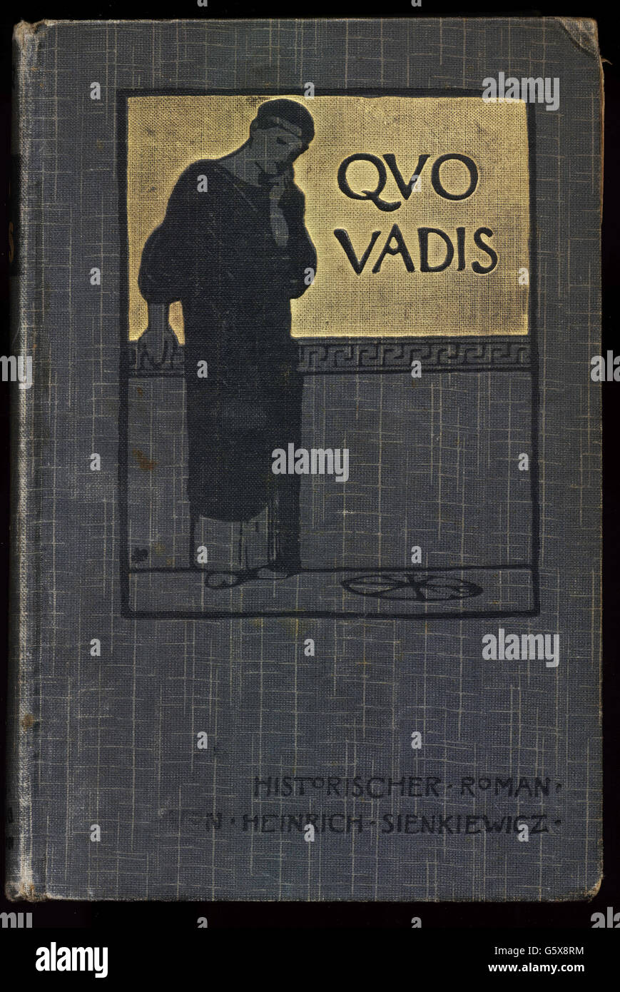 literature, titles and title pages, 'Quo Vadis?', by Henryk Sienkiewicz (1846 - 1916), cover, authorized - Stock Image