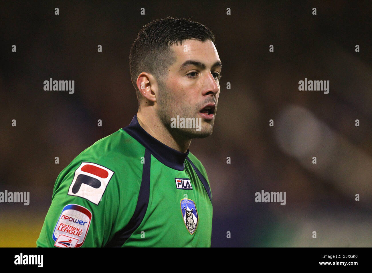 Soccer - FA Cup - Fifth Round - Oldham Athletic v Everton - Boundary Park - Stock Image