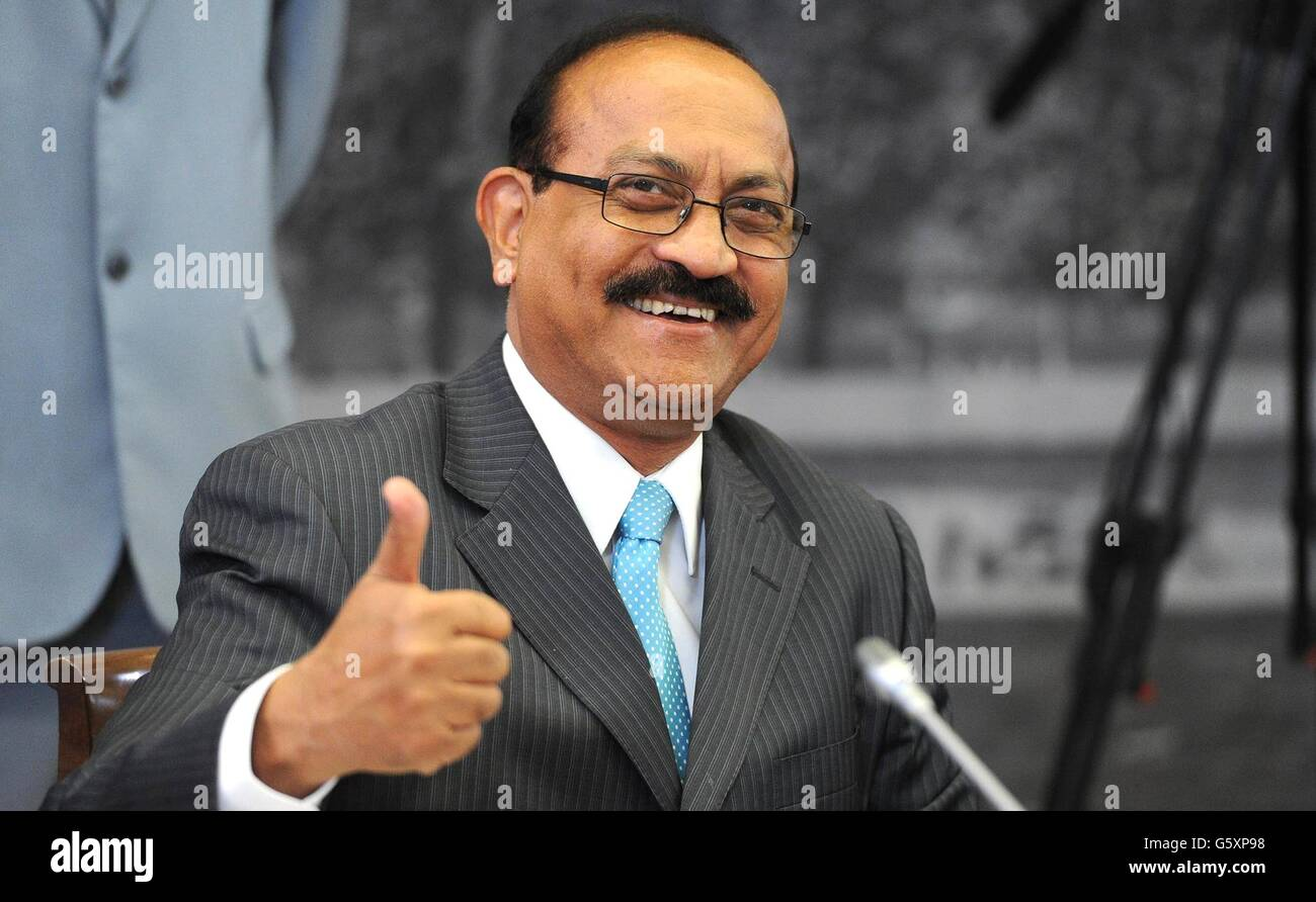 Editor-in-chief of India Today Group Raj Chengappa during a meeting with Russian President Vladimir Putin and international - Stock Image