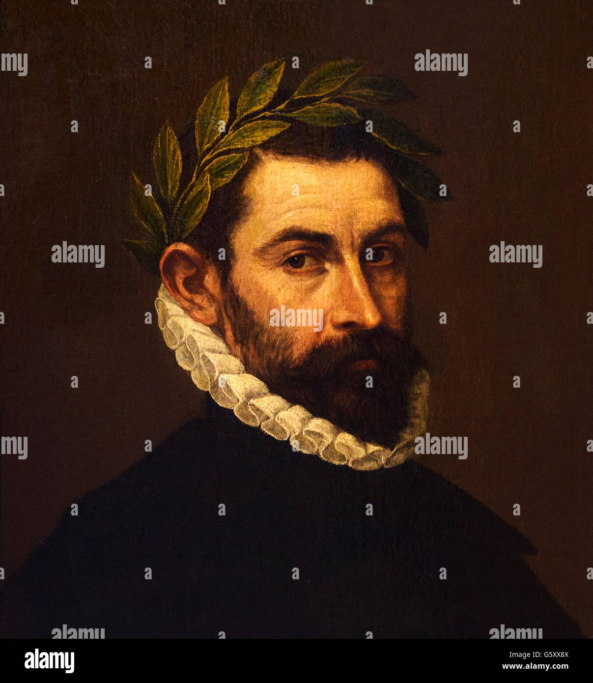 Portrait of the Poet Alonso Ercilla y Zuniga, 1576-1577, El Greco,  Hermitage State Museum, Saint Petersburg, Russia - Stock Image