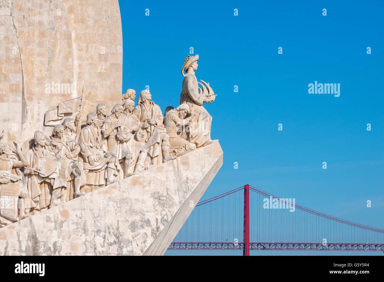 Padrão dos Descobrimentos (Monument to the Discoveries), Belem, Lisbon, Portugal - Stock Image