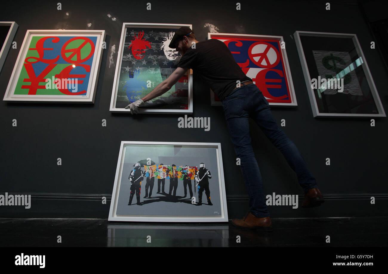 Fiasco collective art exhibition - Stock Image