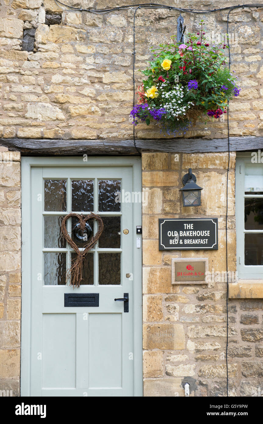 The old bakehouse B & B in Chipping Campden, Gloucestershire, England - Stock Image