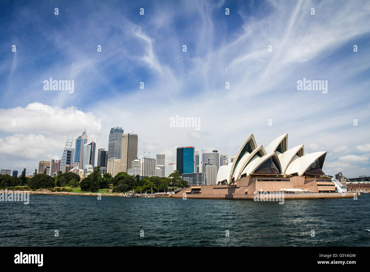 Sydney Skyline in Australia Stock Photo